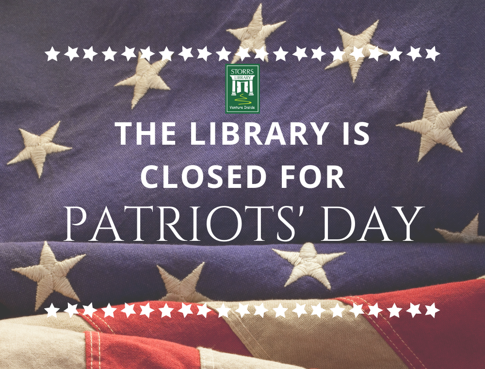 Library closed for Patriots' Day