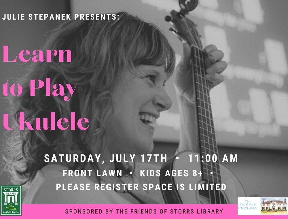 Flyer for Learn to Play Ukulele for ages 8+