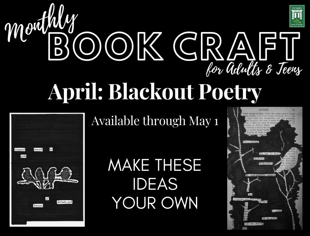 April Adult and Teen Book Craft: Blackout Poetry