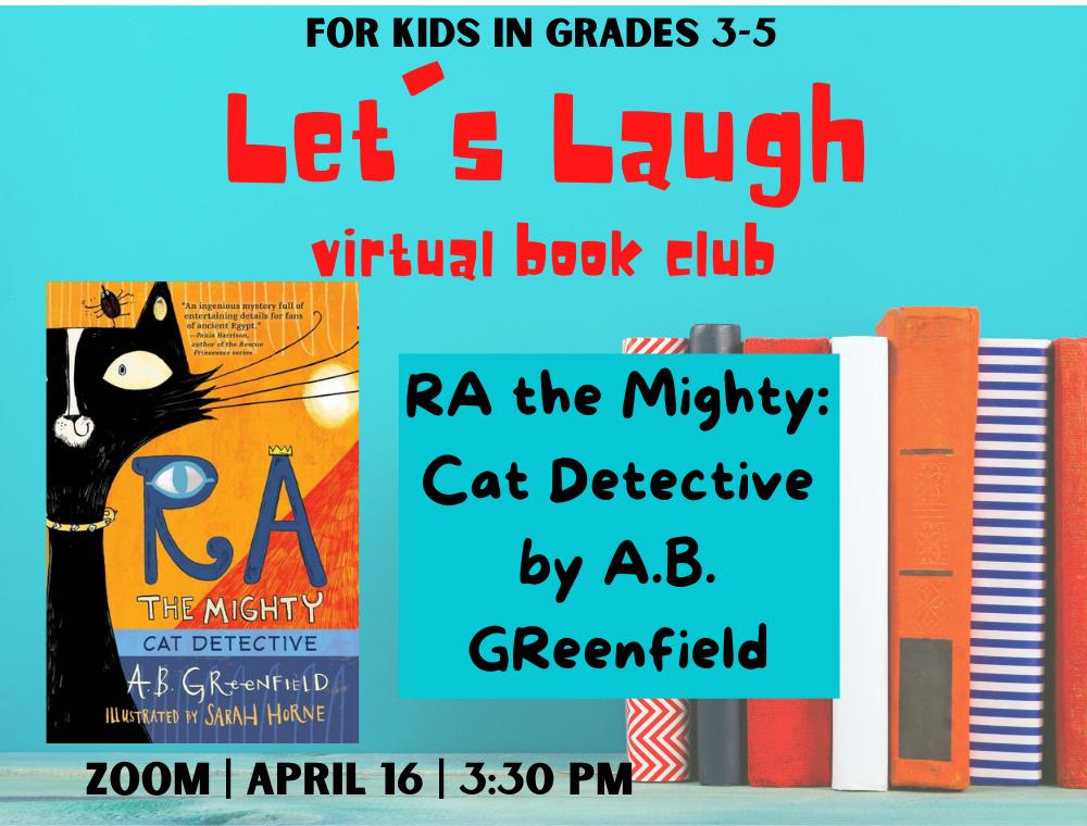 Let's Laugh Book Club April flyer