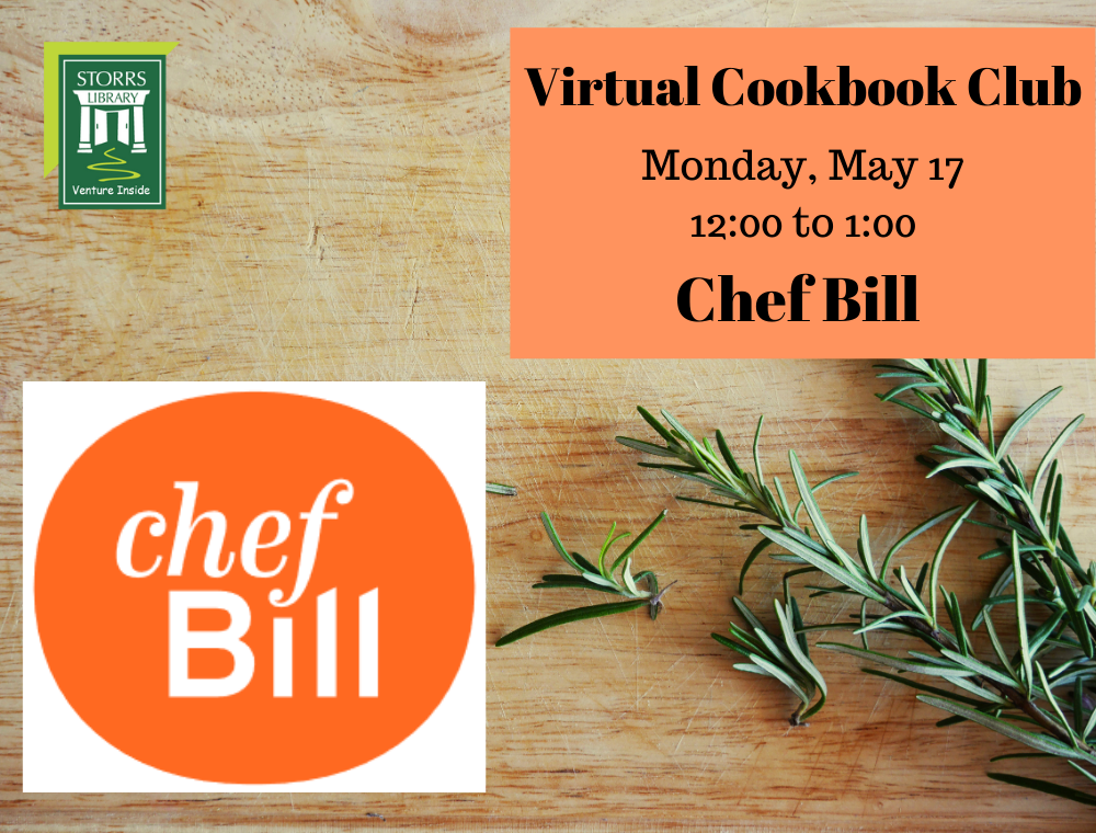 Flyer for May Virtual Cookbook Club