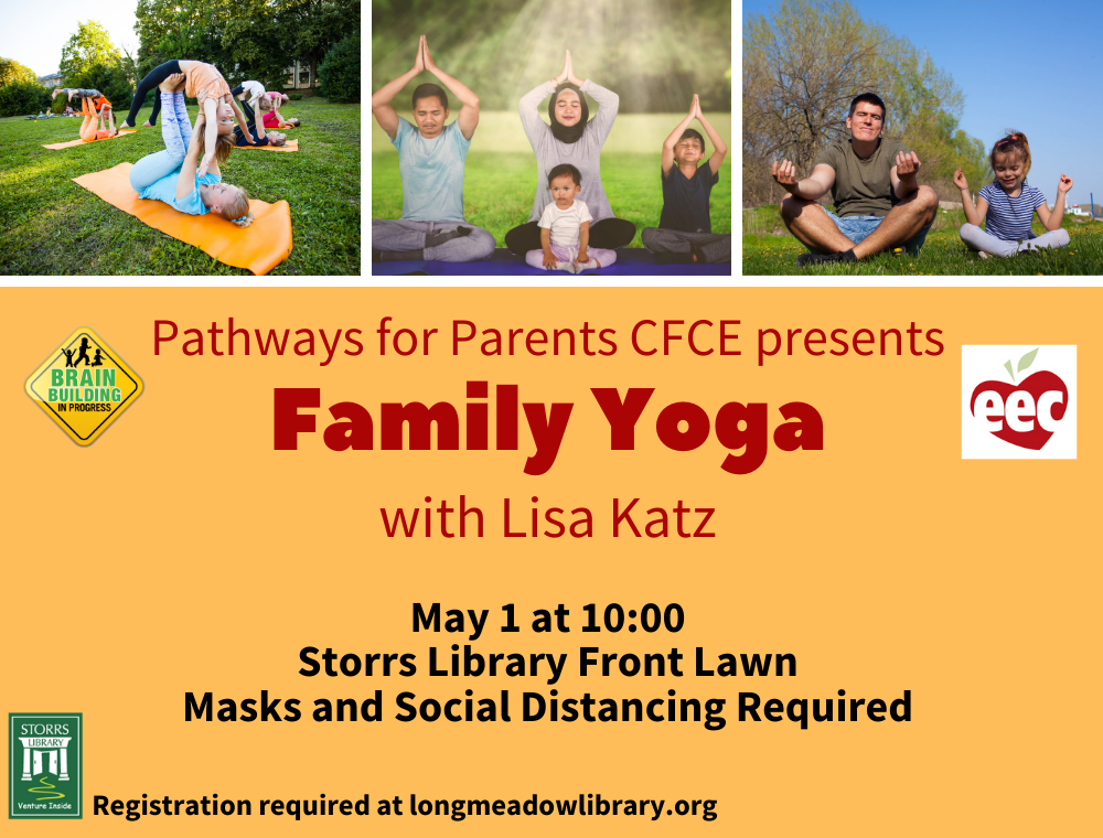 Flyer for Family Yoga on the Lawn