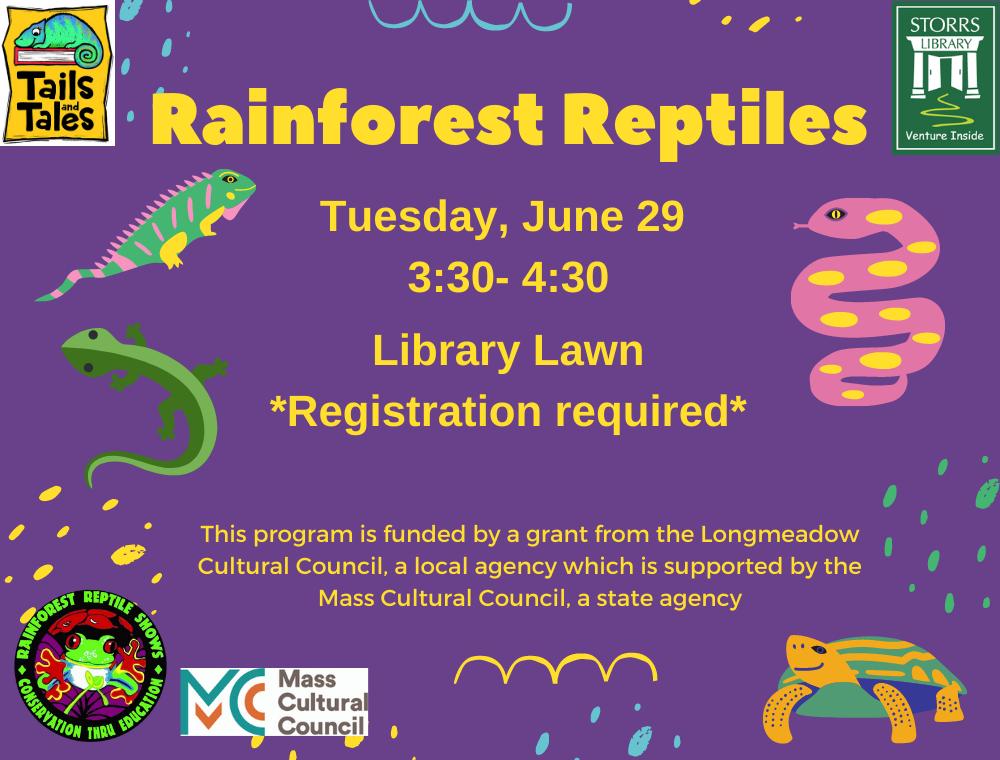 Rainforest Reptiles flyer