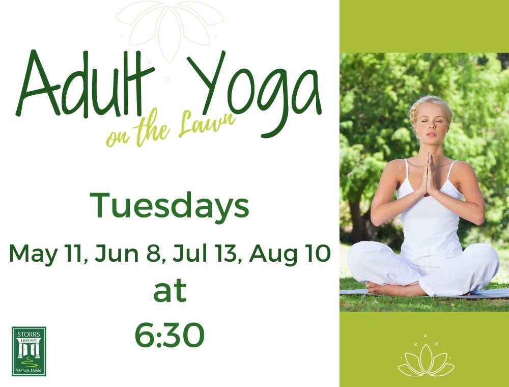 Flyer for Adult Yoga on the Lawn