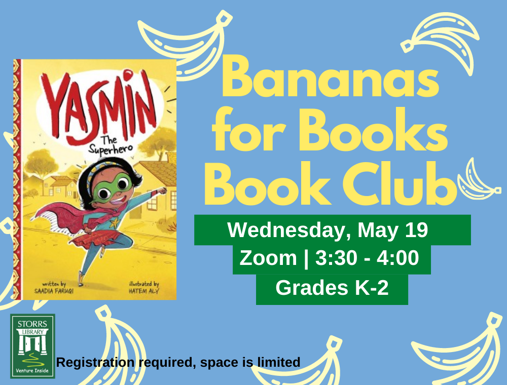 Bananas for Books May flyer