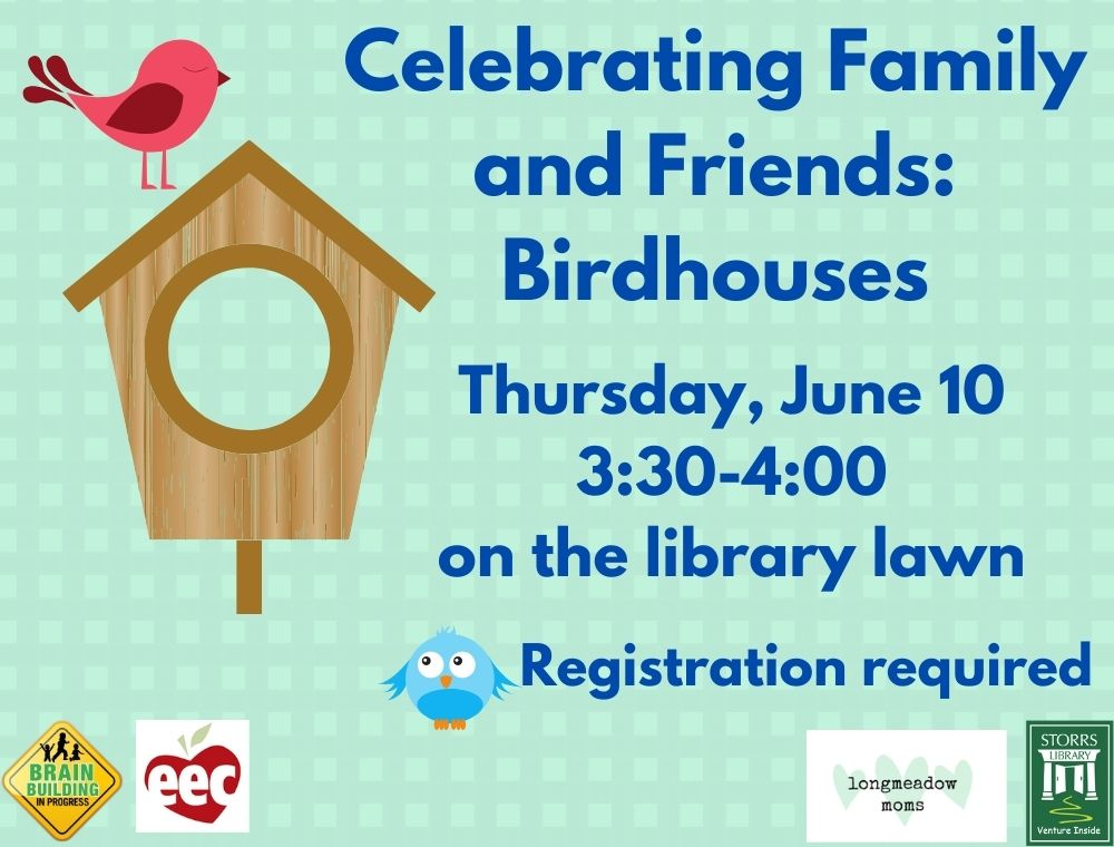 Flyer for Celebrating Family and Friends: Birdhouses