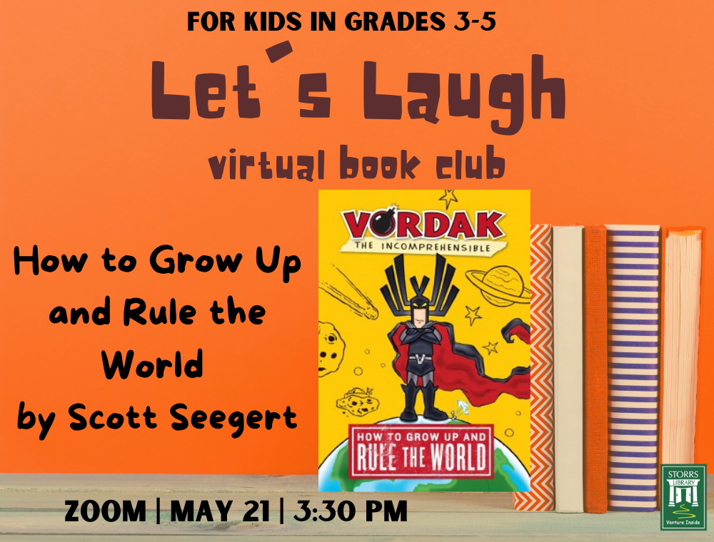 Let's Laugh Book Club May flyer