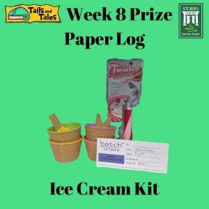 Week 8 Paper Log Prize: Ice Cream Kit