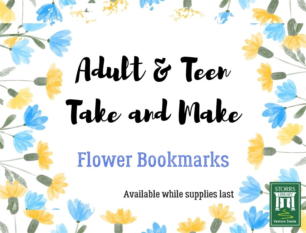 May Adult and Teen Book Craft: Flower Bookmarks