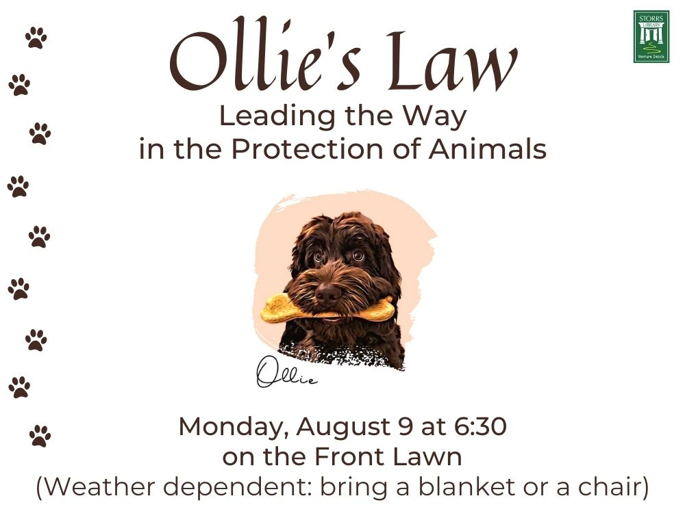 Flyer for Ollie's Law: Leading the Way in the Protection of Animals