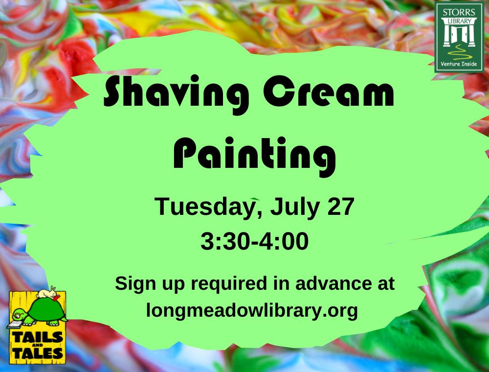 Shaving Cream Painting Flyer