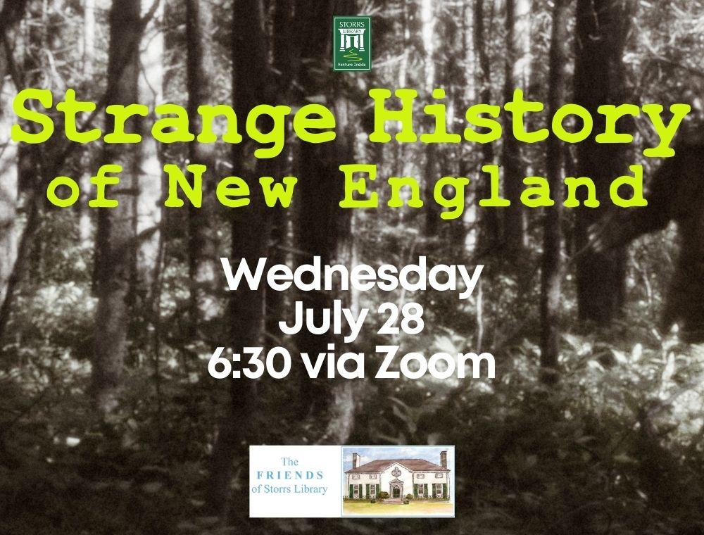 Flyer for Strange History of New England