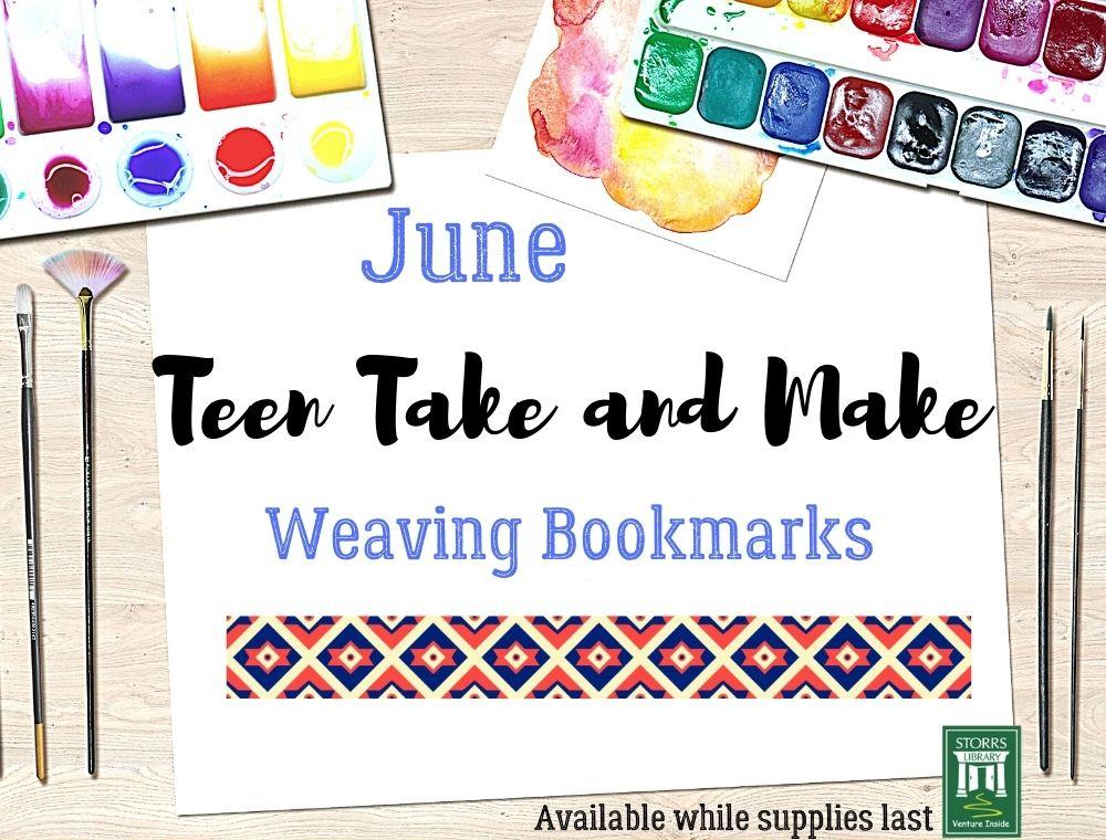 Teen Take and Make Weaving Bookmark