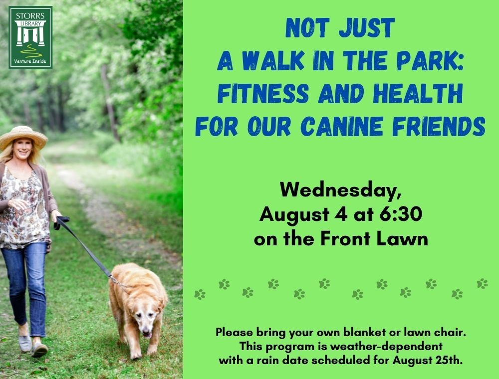 Flyer for Not Just a Walk in the Park: Fitness and Health for our Canine Friends