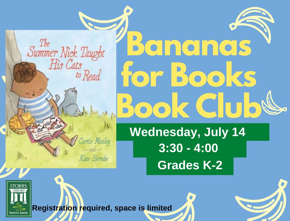 Bananas for Books July flyer
