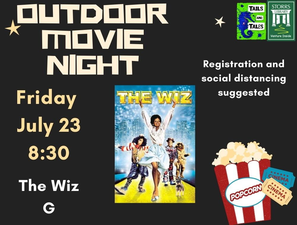 Outdoor Movie the Wiz flyer