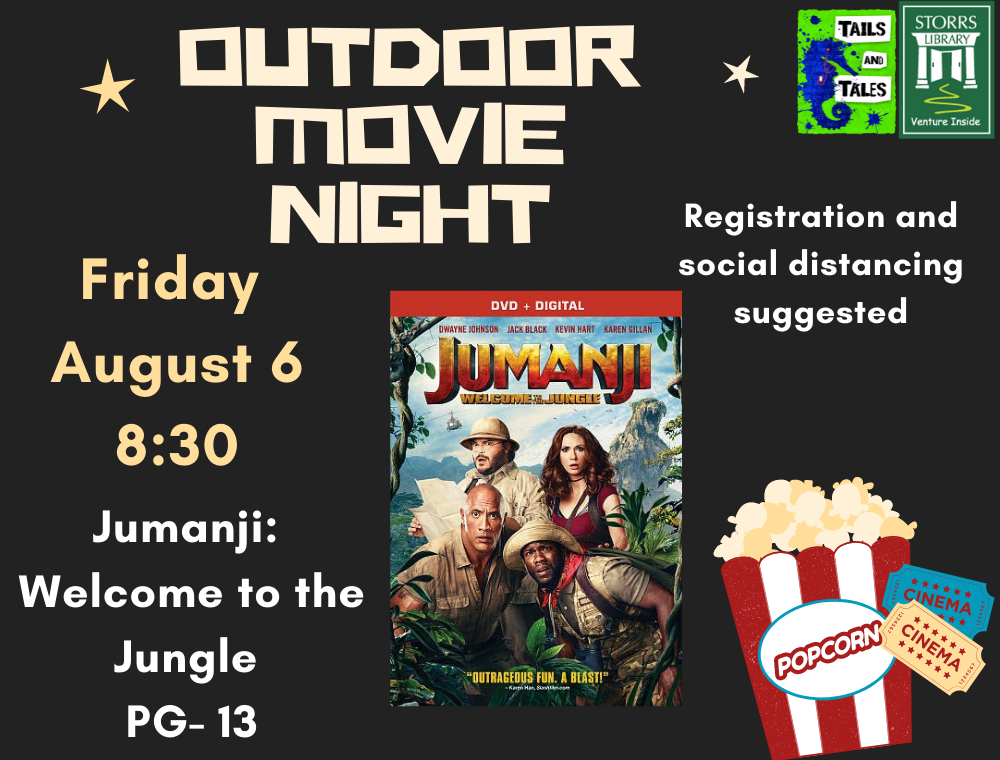 Outdoor Movie Jumanji Welcome to the Jungle flyer
