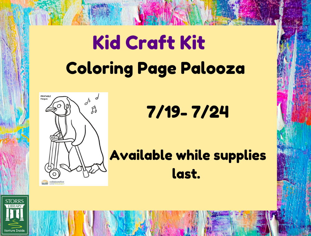 Flyer for Kid Coloring Page Palooza