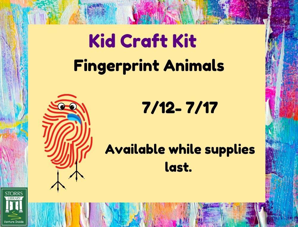 Flyer for Kid Craft Kit Fingerprint Animals
