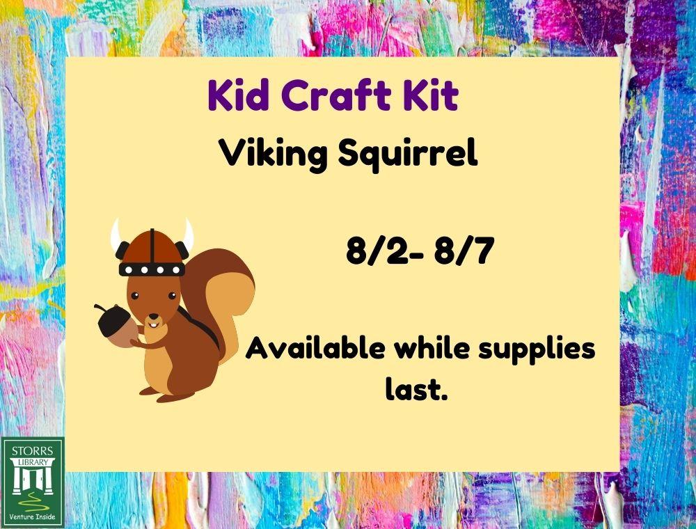 Flyer for Kid Craft Kit Viking Squirrel