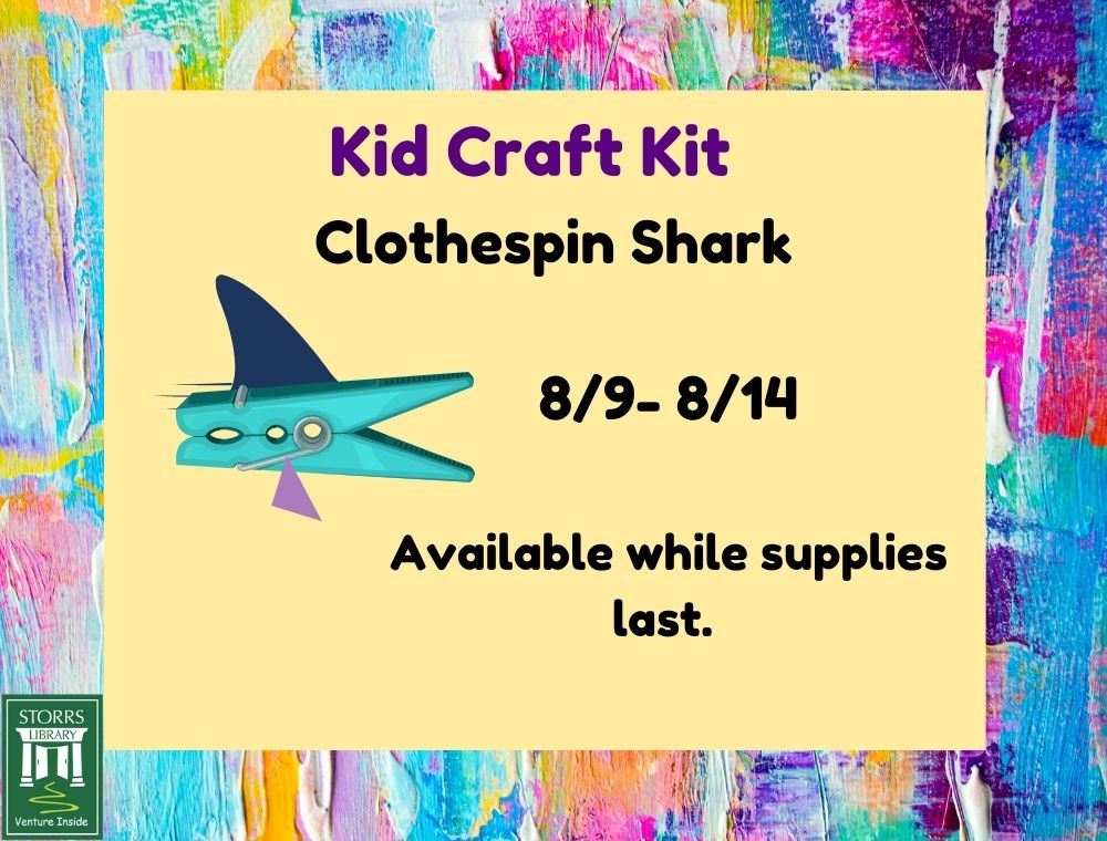 Flyer for Kid Craft Kit C;othespin Shark