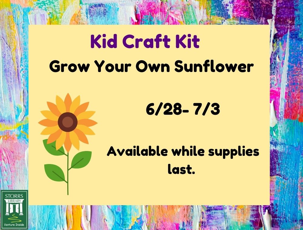 Flyer for Kid Craft Kit Grow Your Own Sunflower