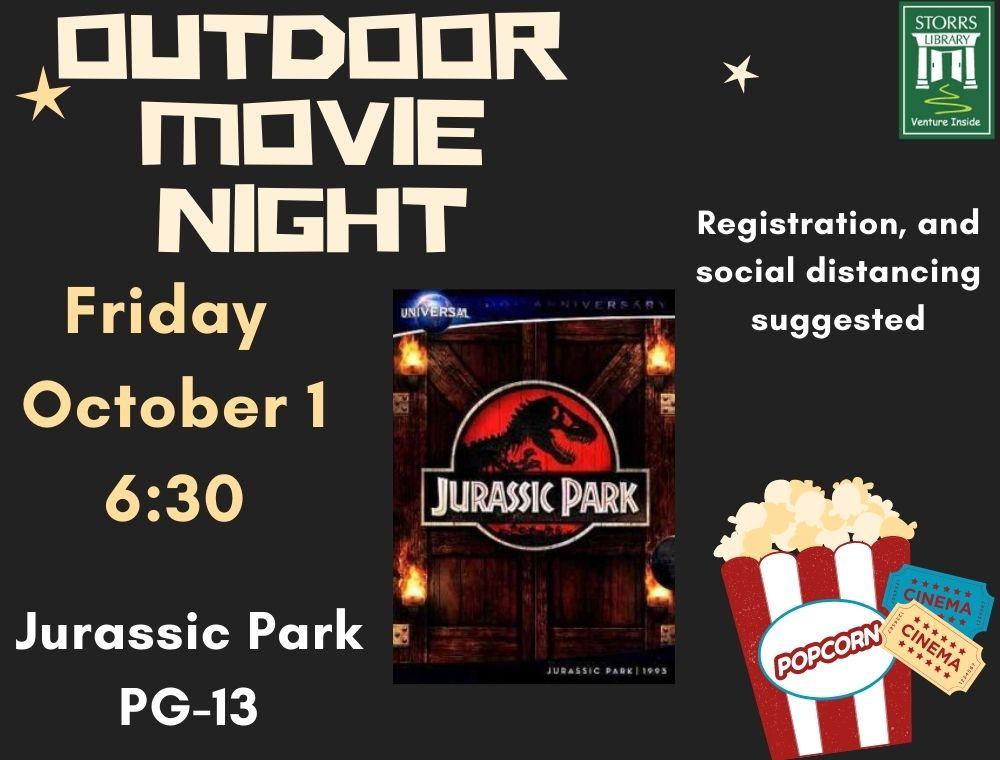 Outdoor Movie flyer Jurassic Park