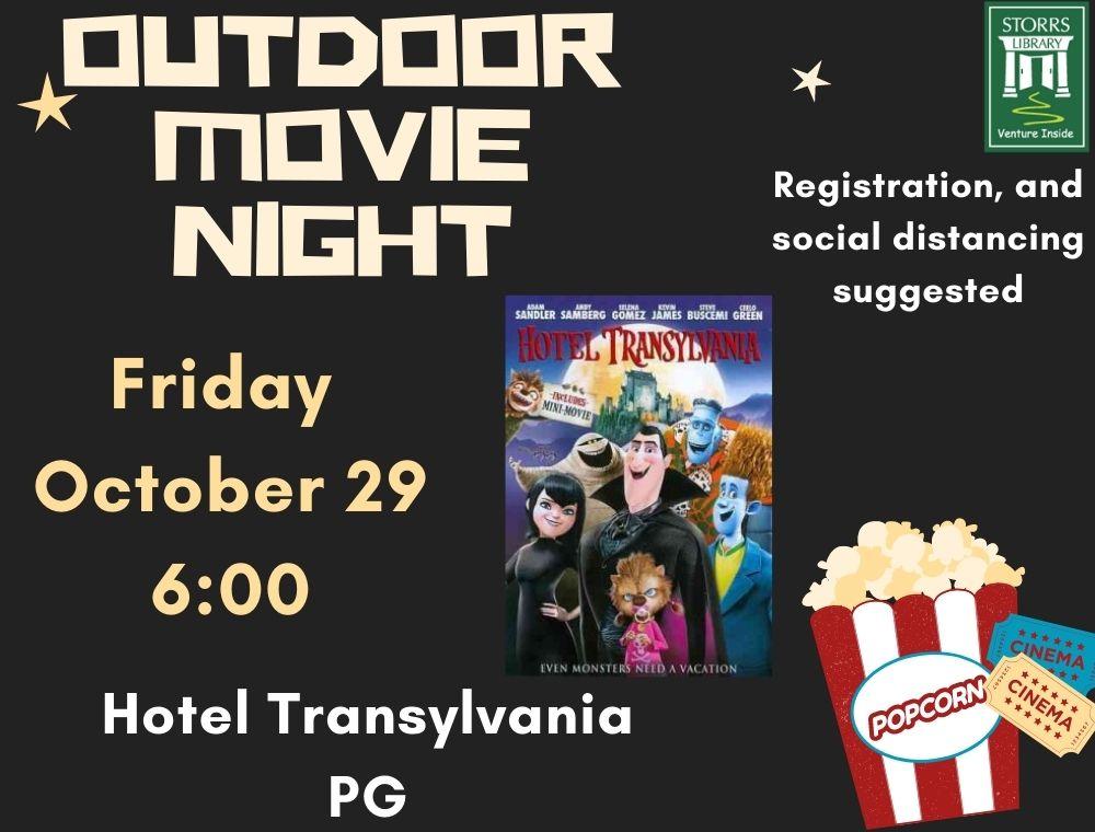 Outdoor Movie flyer Hotel Transylvania