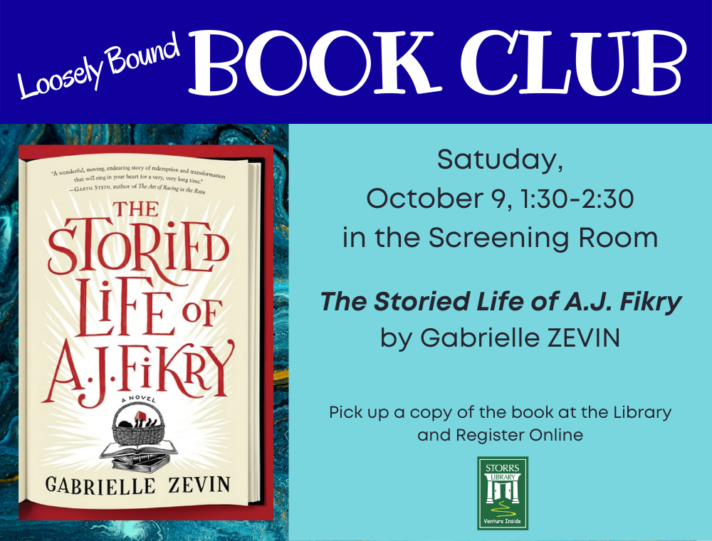 Flyer for Loosely Bound Book Club