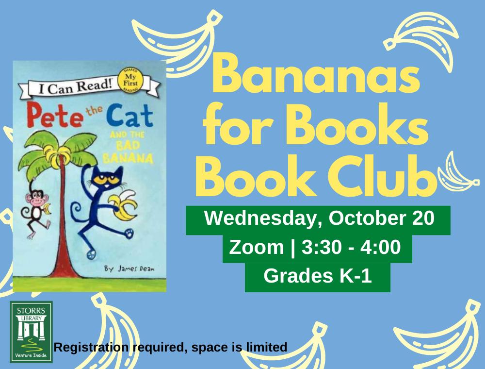 Bananas for Books October flyer