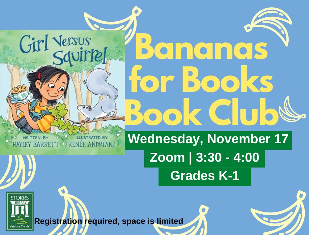 Bananas for Books November flyer