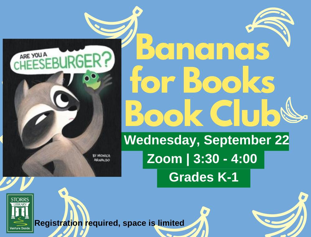Bananas for Books September flyer