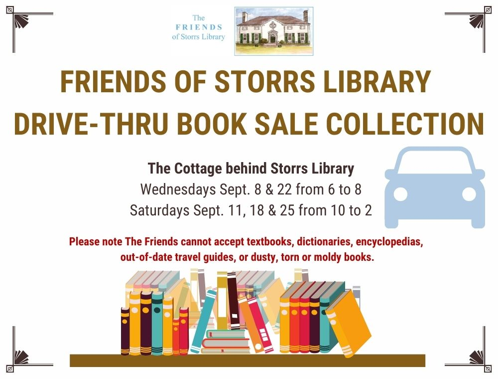 The Friends of Storrs Library Book Sale Drive-Thru Collection