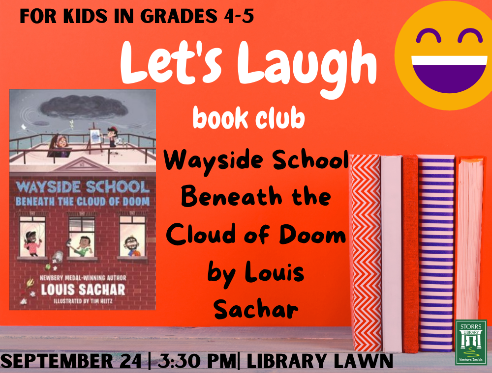 Let's Laugh Book Club September flyer