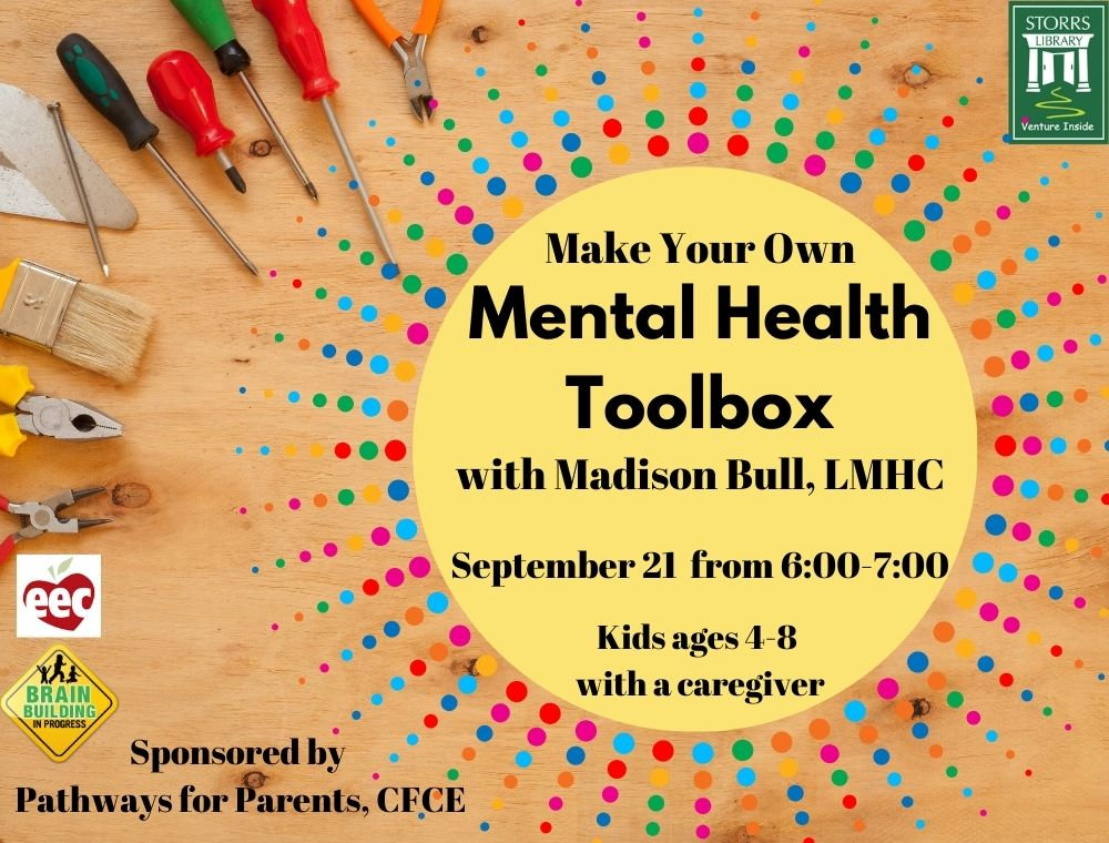 Flyer for Mental Health Toolbox sponsored by Pathways for Parents CFCE