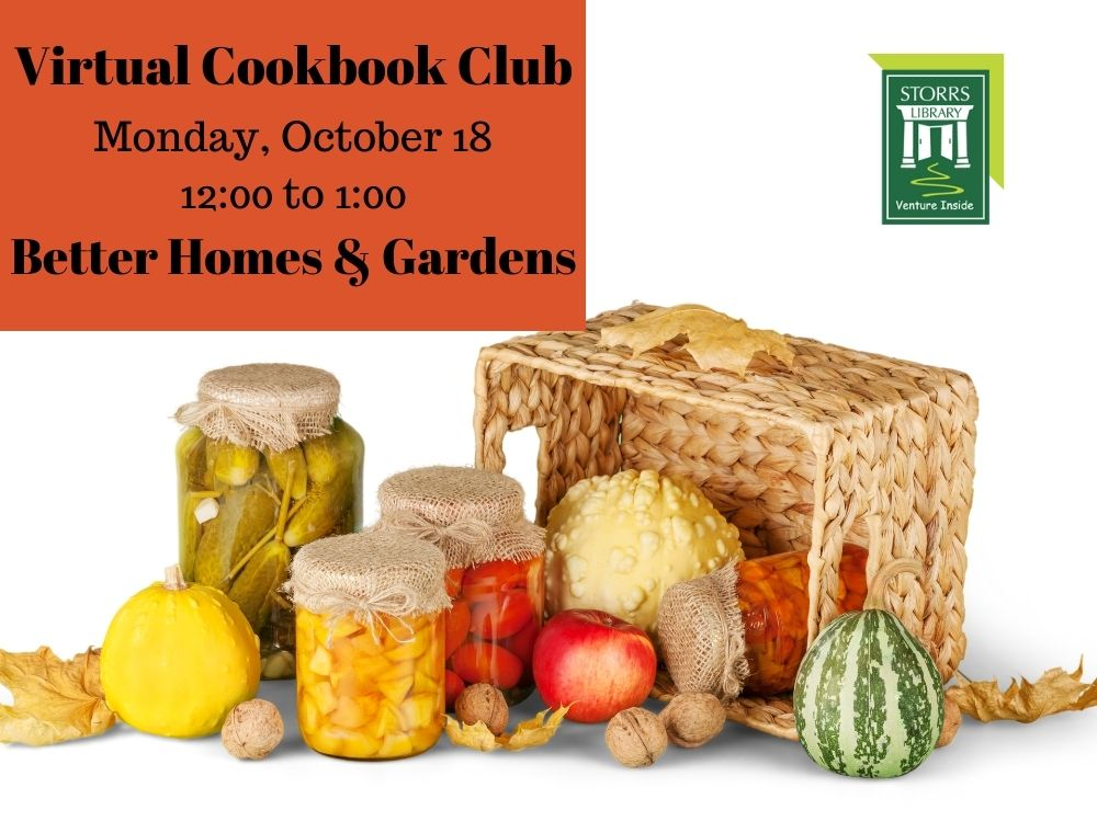 Flyer for October Virtual Cookbook Club