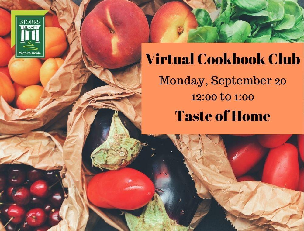 Flyer for September Virtual Cookbook Club