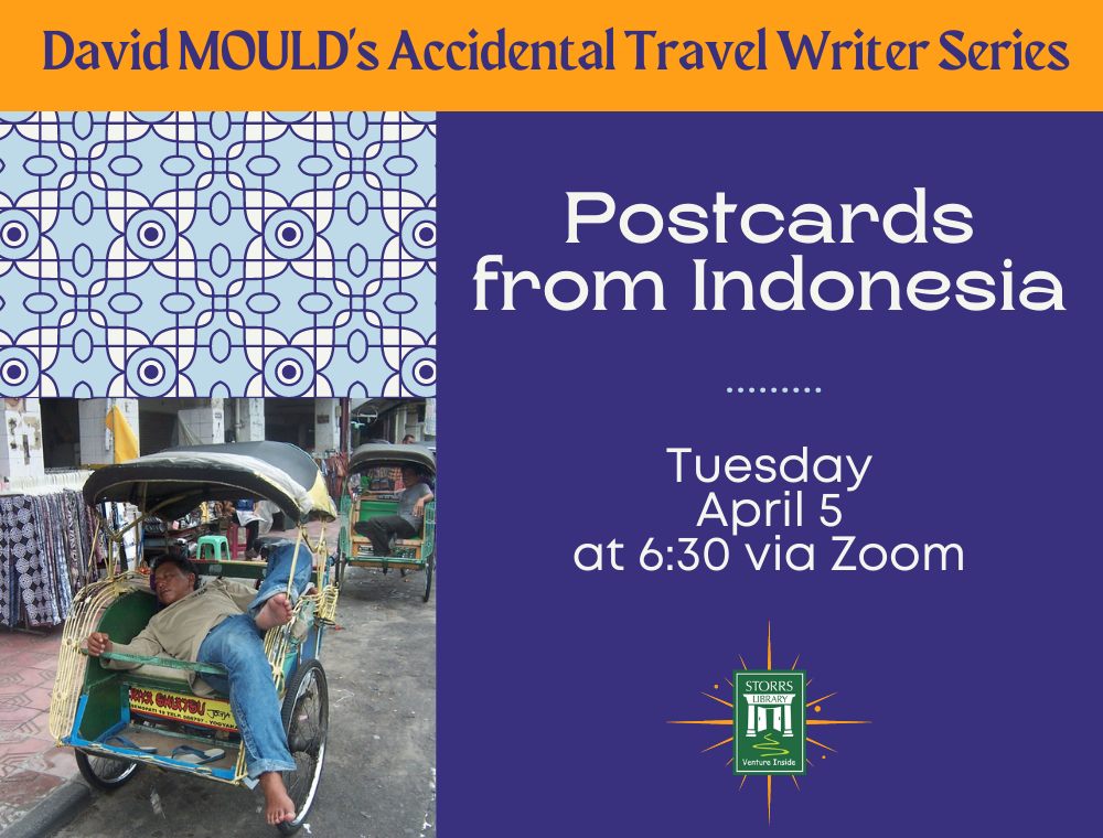 Flyer for Accidental Travel Writer: Postcards from Indonesia