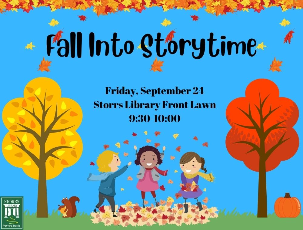 Flyer for Fall into Storytime