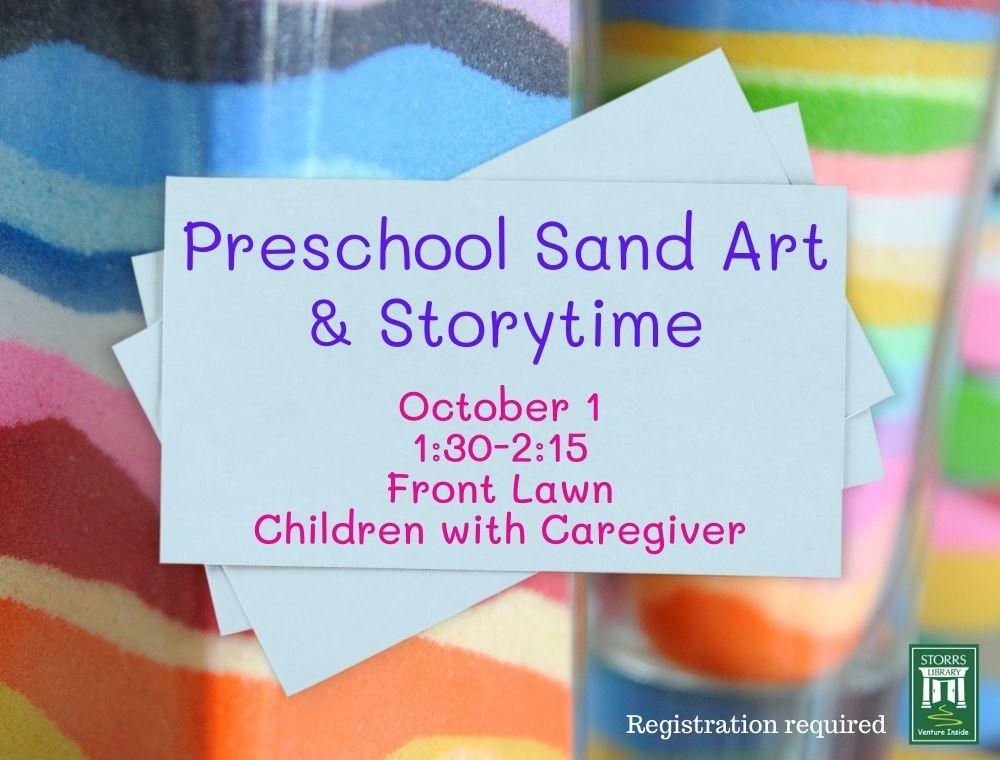 Preschool Sand Art and Storytime