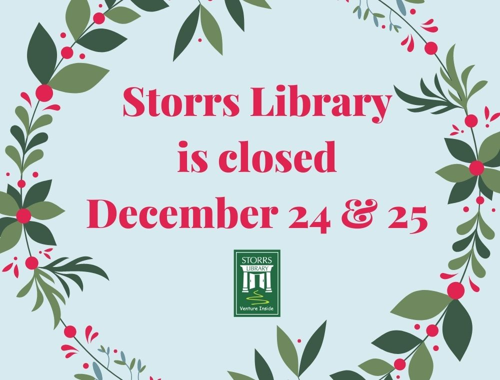 Library Closed December 24 and December 25