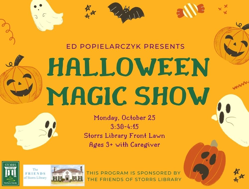 Halloween Magic Show ages 3 and older