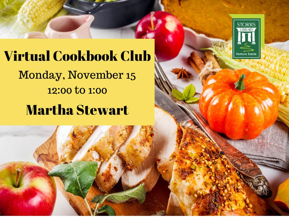 Flyer for November Virtual Cookbook Club