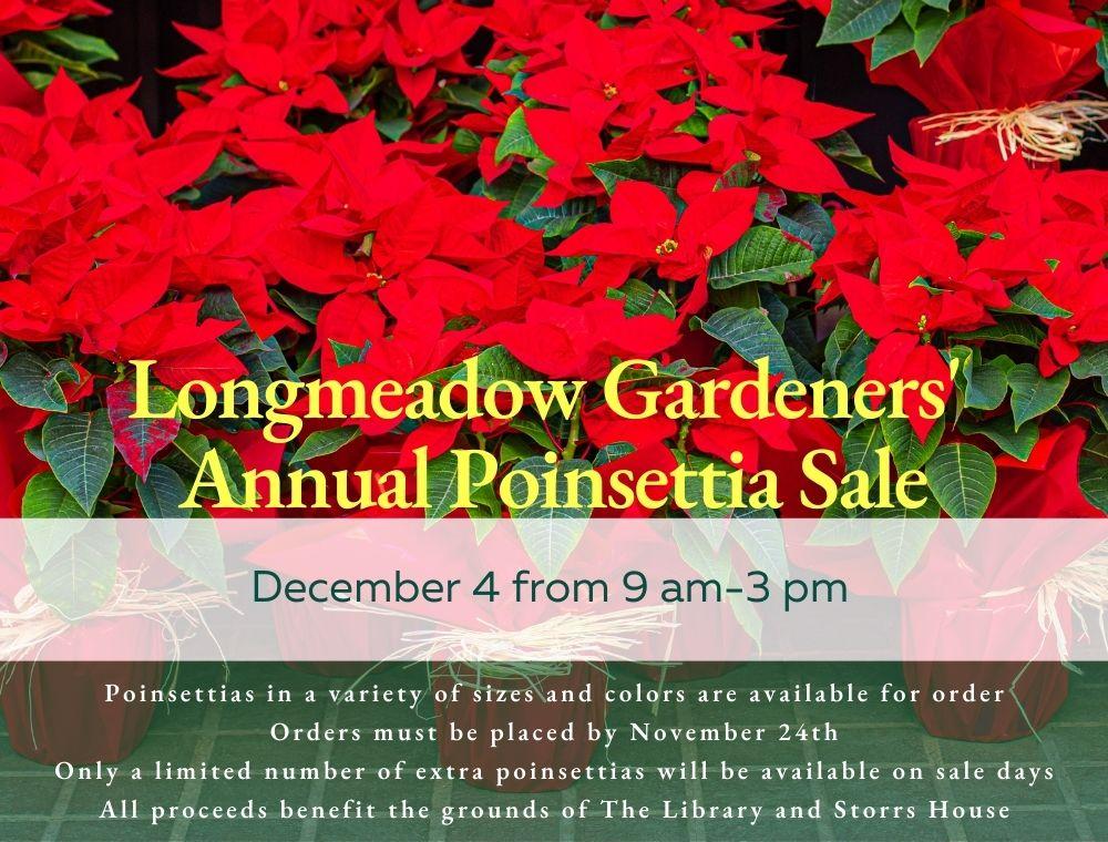 The Longmeadow Gardeners Poinsettia Sale