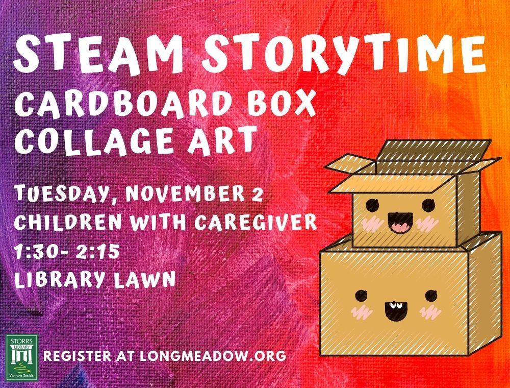 STEAM Storytime: Cardboard Box Collage Art